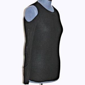 Hippie Rose Cold Shoulder Tunic Sweater Black Lg